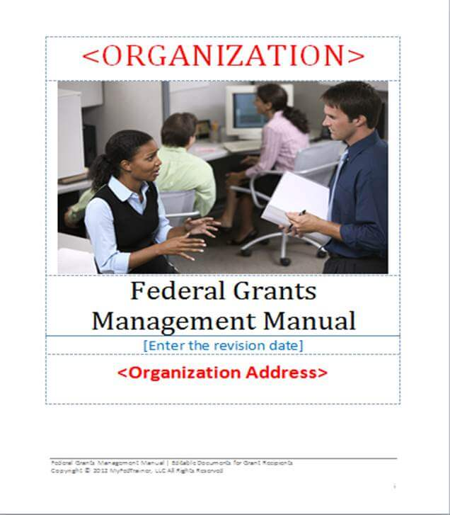 NEW EDITABLE GRANT MANAGEMENT MANUAL