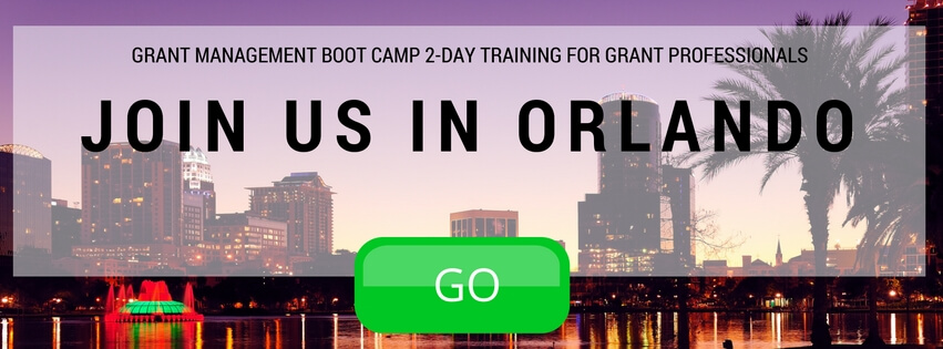 Live Grant Management Training Seminar in Orlando