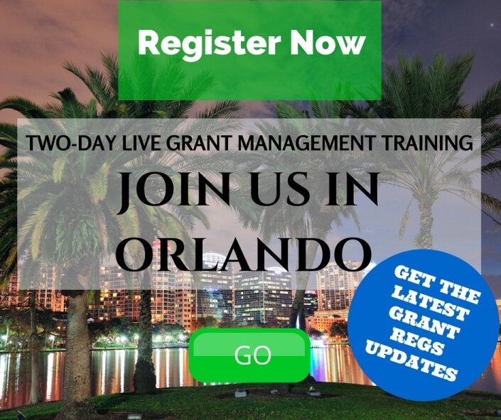 Join Us In Orlando for Live Grant Management Training