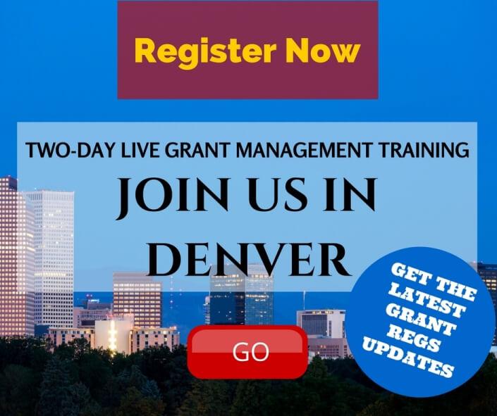 Live Grant Management Training Seminar in Denver