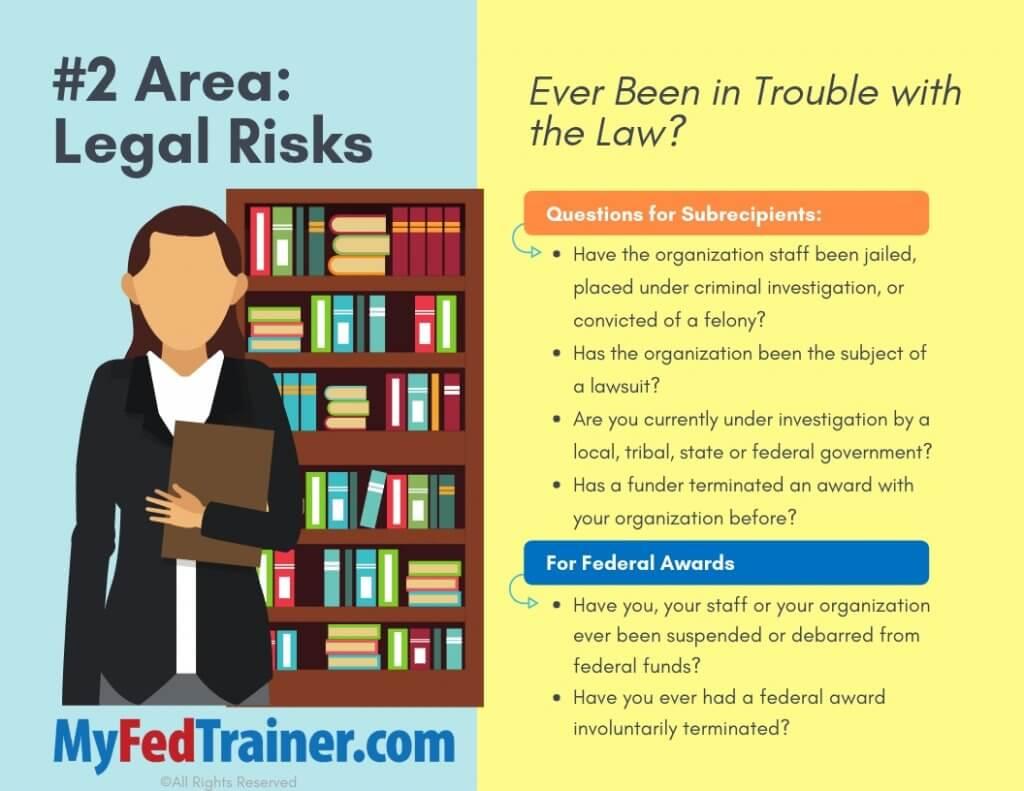 Legal risks with subrecipients