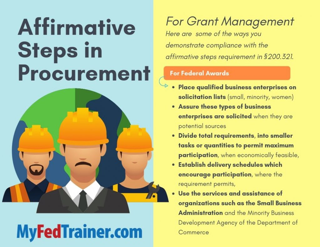 Affirmative Steps in Procurement
