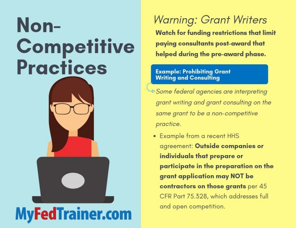 Grant Writers and non-completitive practices